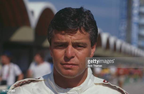 British racing driver Derek Warwick driver of the the USFG Arrows Megatron Arrows A10B Megatron M12/13 15 L4t pictured prior to competing to finish...