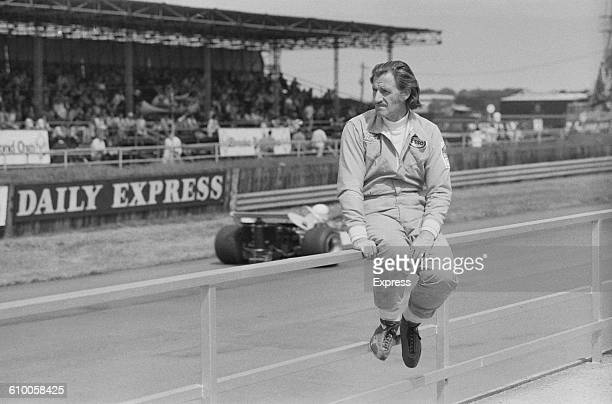 British racing driver Graham Hill on the track at Silverstone UK 21st July 1971