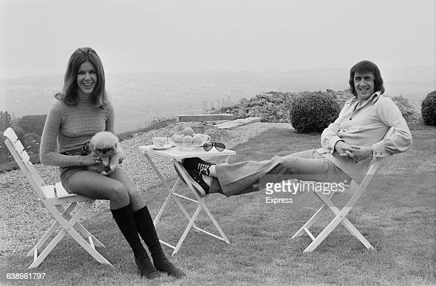 British racing driver Jackie Stewart and his wife Helen in the garden of their home at Begnins near Lake Geneva in Switzerland 8th May 1971