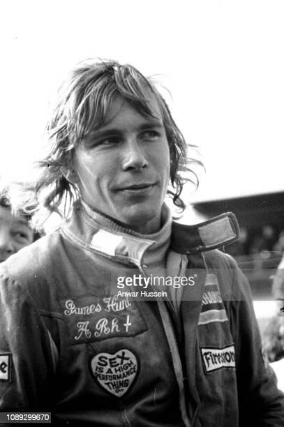British racing driver James Hunt at Brands Hatch on July 18, 1974 in Brands Hatch England.