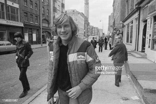 British racing driver James Hunt in London, UK, 27th October 1976.