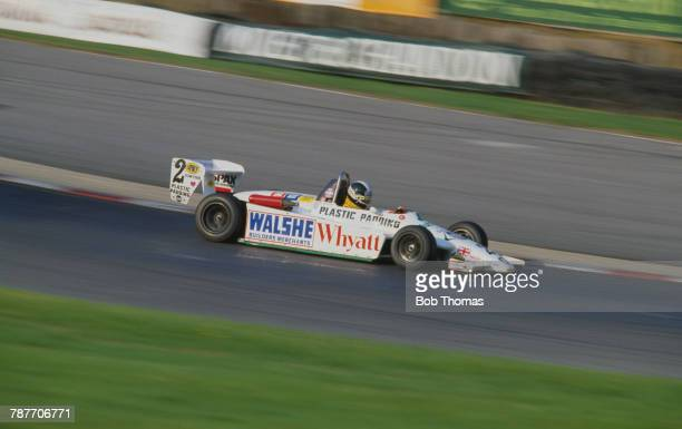 British racing driver James Weaver drives the Ralt RT3C/81 Toyota Novamotor of Plastic Padding with Eddie Jordan Racing to finish in 2nd place in...