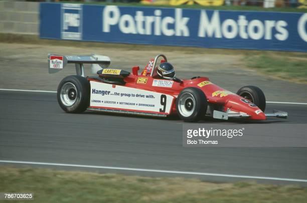 British racing driver Johnny Dumfries drives the Ralt RT3/82 Volkswagen Brabham of Associated Racing in round 13 of the 1983 British Formula Three...