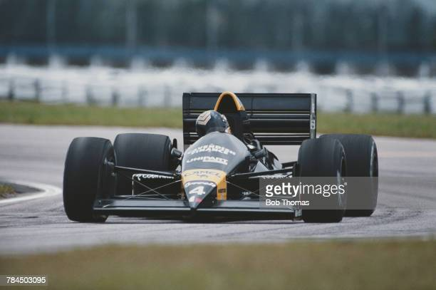British racing driver Julian Bailey drives the Tyrrell Racing Organisation Tyrrell 017 Cosworth V8 during practice for the Brazilian Grand Prix 3rd...