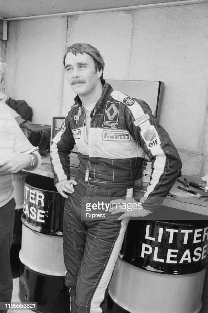 British racing driver Nigel Mansell during practice at Brands Hatch Circuit UK 24th September 1983