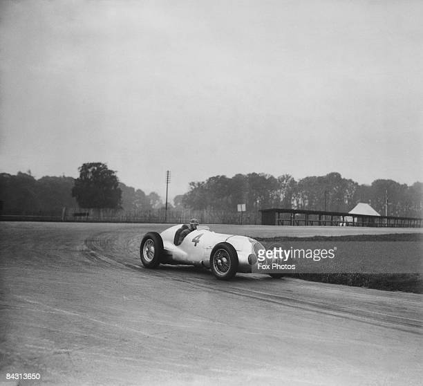 British racing driver Richard Seaman driving a MercedesBenz at Donington Park 30th September 1937 He is training with a crack team of German drivers...