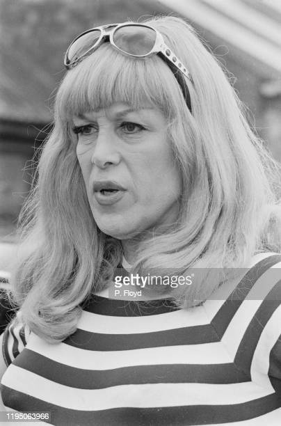British racing driver, Roberta Cowell , at Silverstone Circuit in Northamptonshire, where she is testing a Kitchmac M10B Formula 5000 racing car,...