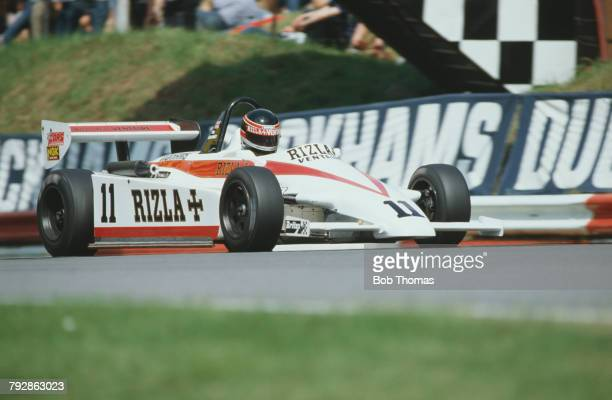 British racing driver Tim LeeDavey drives the Ralt RT3D/82Toyota Hesketh of Murray Taylor Racing to finish in 8th place in the 1982 Marlboro British...