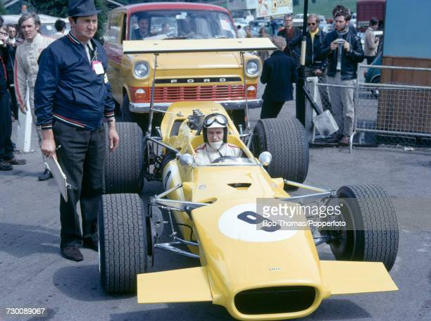 British racing driver Willie Forbes pictured in the Lola T142 Chevrolet 50 prior to competing to finish in 10th place in the Kent Messenger 5000 race...