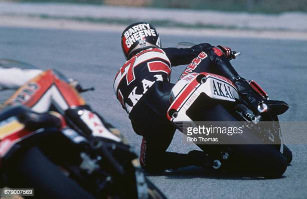 British racing motorcyclist Barry Sheene riding a 500cc Yamaha in the Austrian Grand Prix at the Salzburgring 26th April 1981