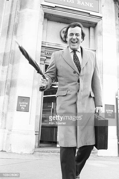 British radio and television host Terry Wogan outside Lloyds Band in London England on April 02 1984