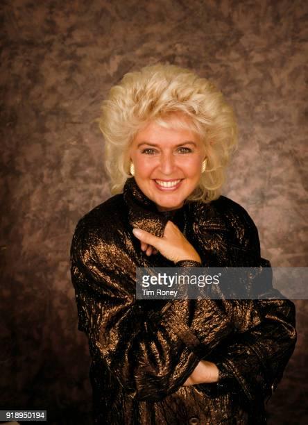 British radio and television presenter Gloria Hunniford circa 1990