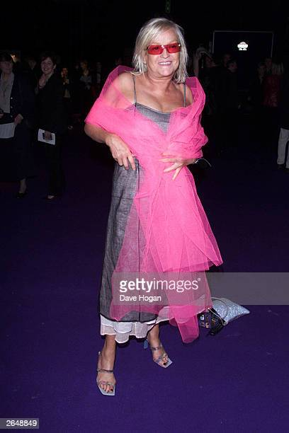 British Radio One DJ Annie Nightingale arrives at the Brit Awards at Earls Court 2 Exhibition Centre on February 26 2001 in London
