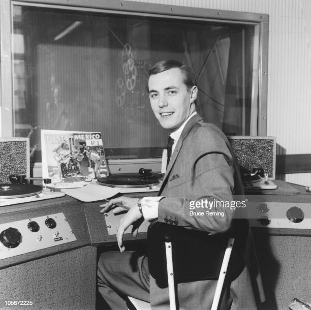 British radio presenter and DJ Simon Dee on board offshore radio station Radio Caroline 1964