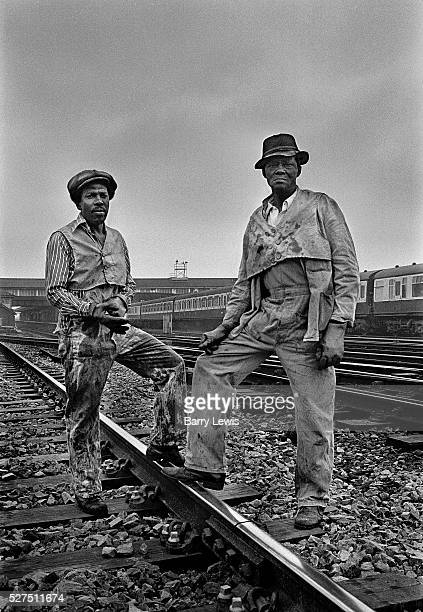 British Rail linesmen Clapham Junction the busiest intersection of railway line in the in the UK British Railways which from 1965 traded as British...