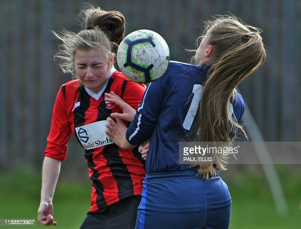 British Rail North End Social Club Ladies play against Crosby Ladies in Liverpool on March 24 2019 The team known locally as BRNES are managed by...