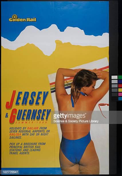 British Railway Poster. Central Advertising Service. Golden Rail Jersey & Guermsey, Summer 1986.