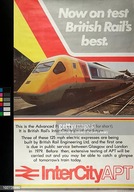 British Railway Poster. InterCityAPT, c.1978. 'Now on test, British Rail's best'. InterCityAPT', c.1978.