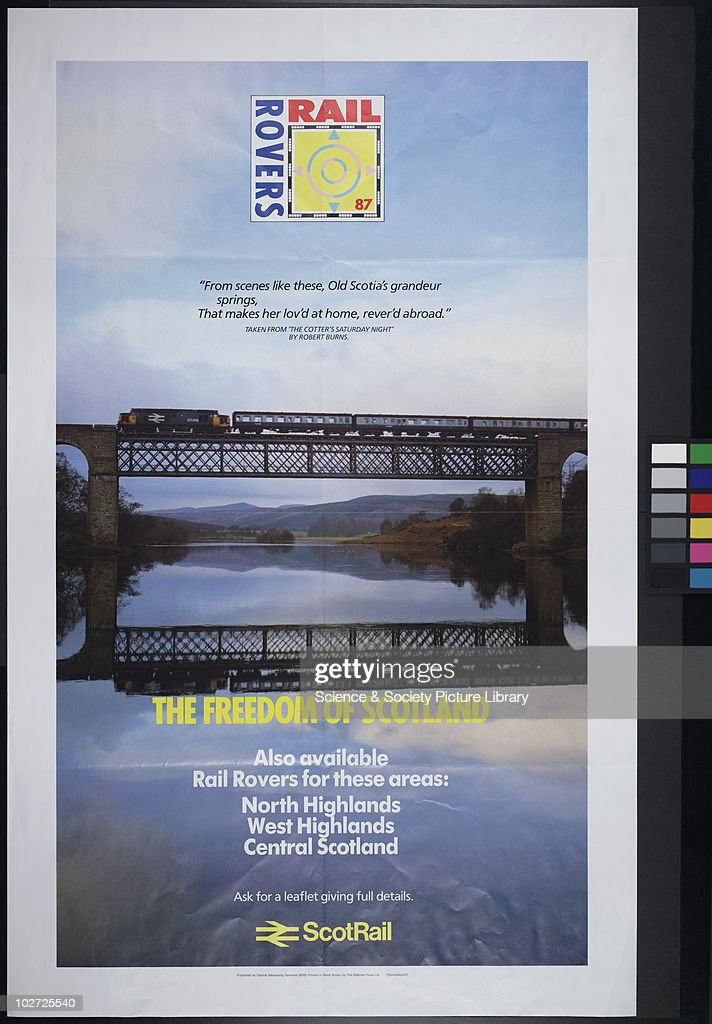 British Railway Poster  ScotRail  Rail Rovers 87, The Freedom of