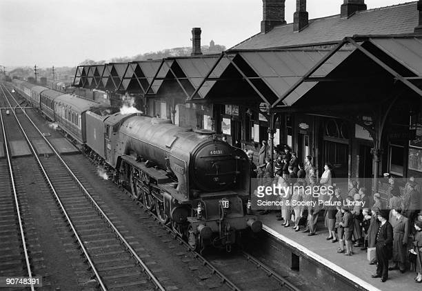 British Railways A1 Class steam locomotive No 60131 'Osprey' at Wakefield Westgate station West Yorkshire This locomotive was built at Doncaster...