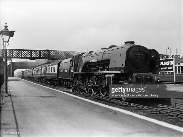 British Railways locomotive 46236 'City of Bradford' 7P class Hayes Harlington 1948 On up Plymouth express passing Hayes Locomotive exchanges 1948
