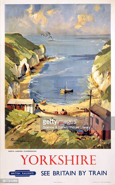 British Railways poster of North Landing Flamborough by Edward Wesson