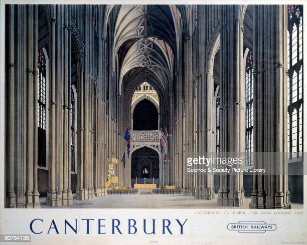 British Railways poster showing an interior view of the cathedral Artwork by F H Coventry