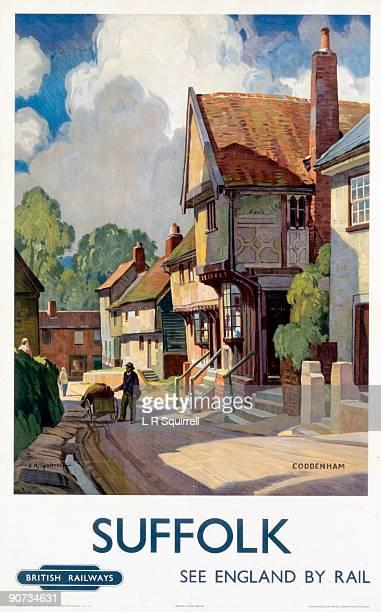 British Railways poster showing Coddenham Artwork by L R Squirrell