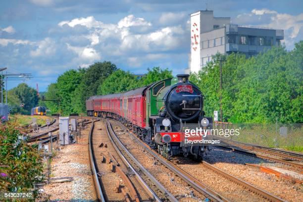 British Railways Steam Train arrives at Clapham Junction