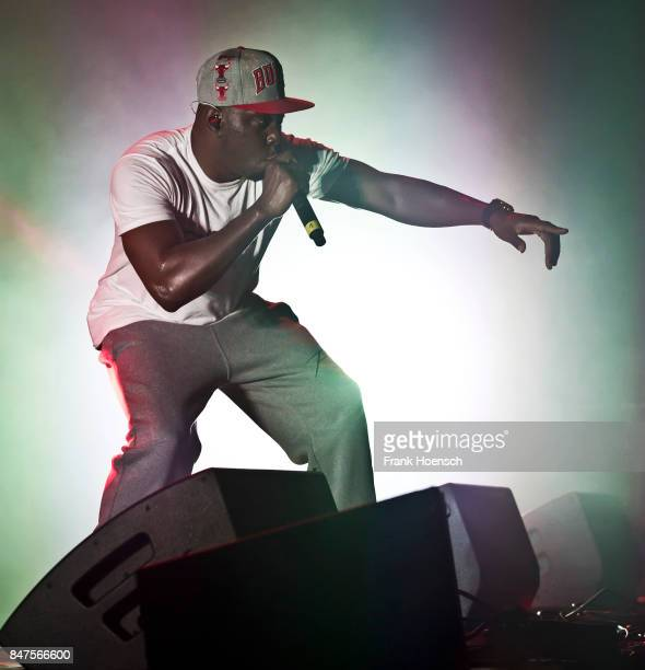British rapper Dizzee Rascal performs live on stage during Sens Hemp Festival at the Columbiahalle on September 15 2017 in Berlin Germany