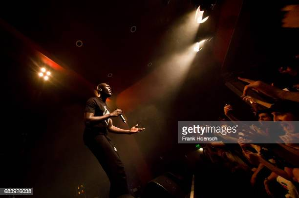 British rapper Michael Omari aka Stormzy performs live during a concert at the Astra on May 16 2017 in Berlin Germany