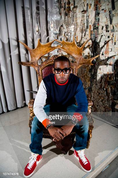 British rapper Tinie Tempah poses for a portrait session at the Sanderson Hotel on 21st September 2010 in London.