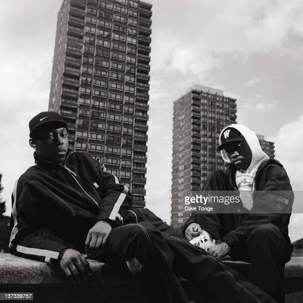 British rappers Dizzee Rascal And Wiley Bethnal Green London August 2002