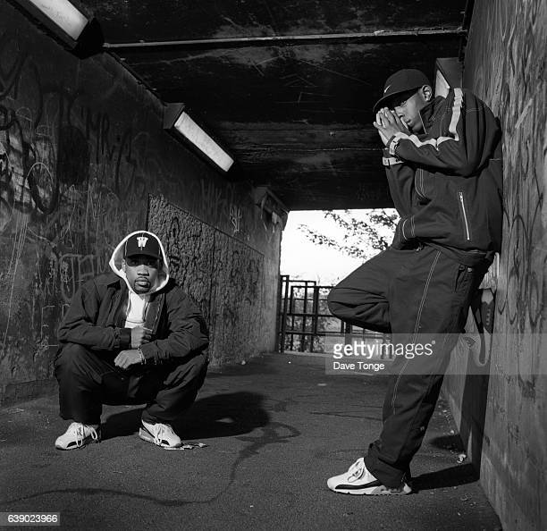British rappers Wiley and Dizzee Rascal Bethnal Green London August 2002