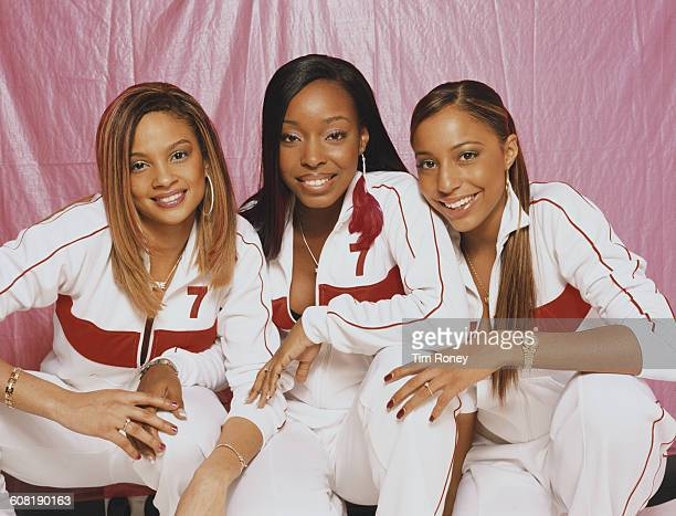 British RB girl band MisTeeq July 2002 From left to right they are Alesha Dixon Sabrina Washington and SuElise Nash