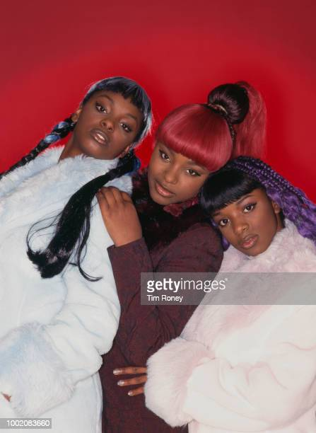 British RB girl group Cleopatra circa 1998 they are sisters Cleo Yonah and Zainam Higgins