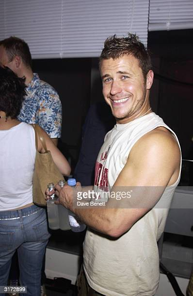 British reality television programme Big Brother 1 winner Craig Phillips attends the party to celebrate the opening of the new Diesel clothing store...