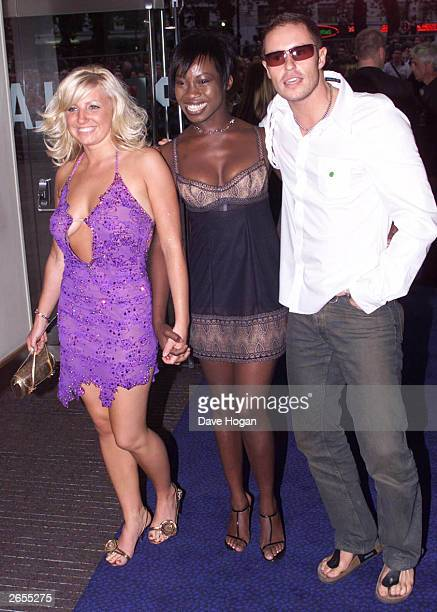 British reality television stars Helen Adams Amma Antwi and Josh Rafter of the program Big Brother 2 arrive at the UK premiere party for the film...