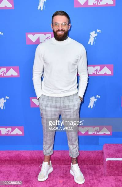 British reality TV actor Aaron Chalmers attends the 2018 MTV Video Music Awards at Radio City Music Hall on August 20 2018 in New York City