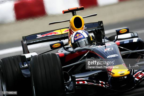 British Red Bull Formula One driver David Coulthard drives his RB3 car during practice for the 2007 Canadian Grand Prix held at the Circuit Gilles...