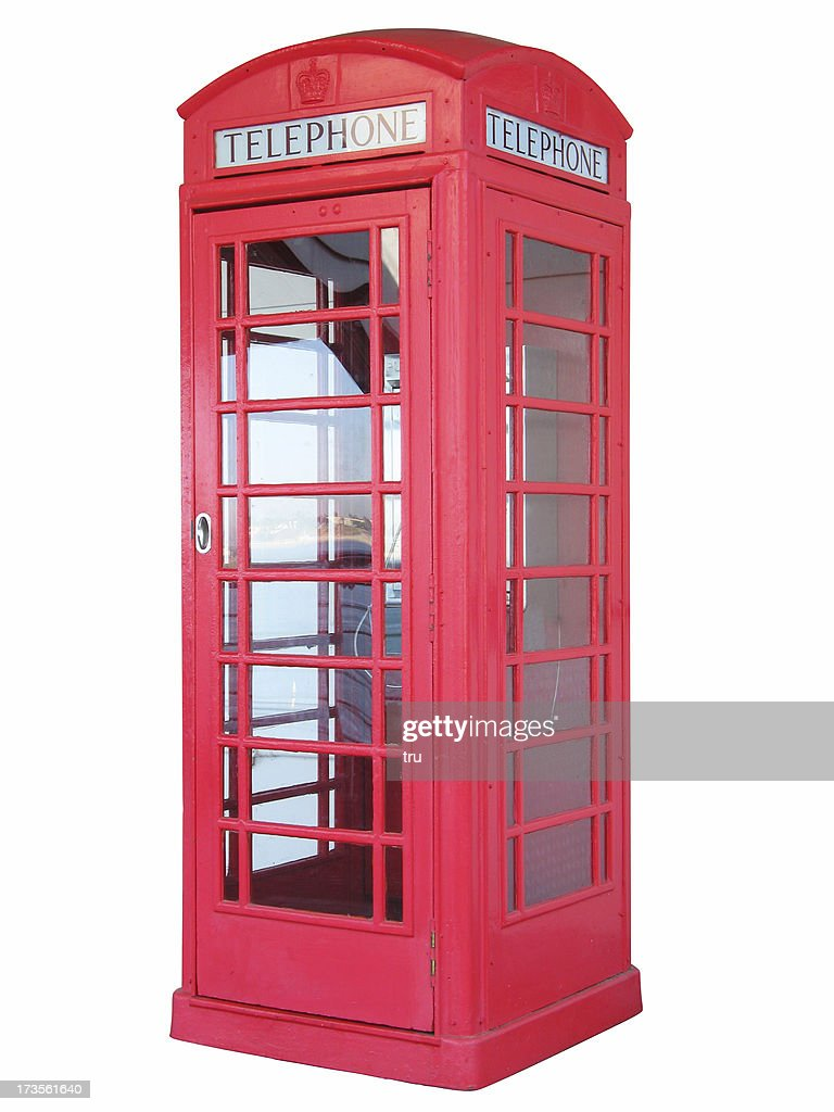 British red phone booth - isolated : Stock Photo