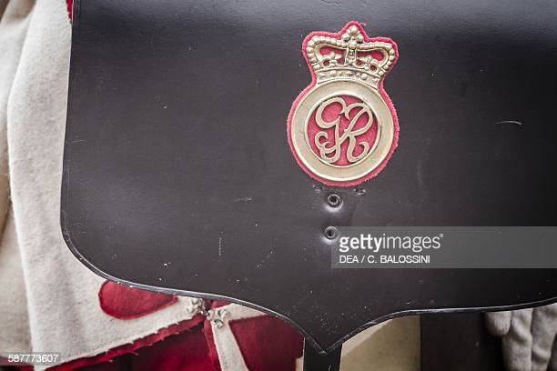 British Redcoat soldier's ammunition pouch United Kingdom 18th century Historical reenactment