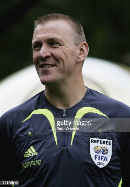British referee Graham Poll is pictured during the FIFA Media Day at the Kempinski Gravenbruch Hotel on June 5 2006 in Frankfurt Germany