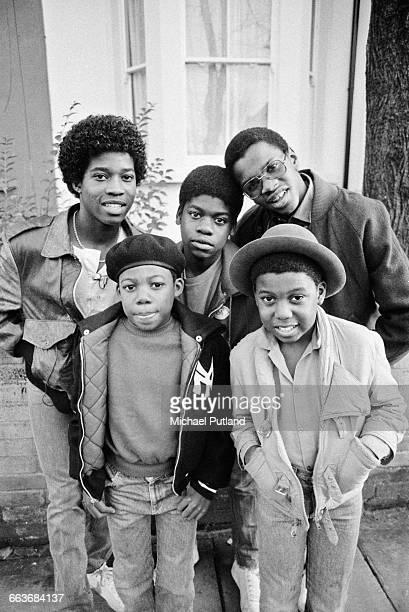 British reggae group Musical Youth Birmingham UK 1982 Clockwise from top left drummer Freddie 'Junior' Waite bassist Patrick Waite singer Dennis...