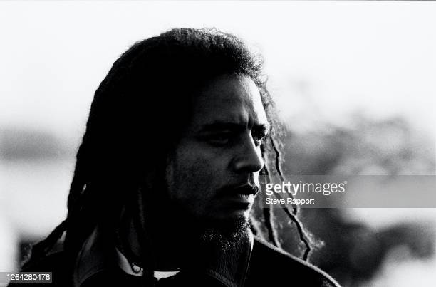 British Reggae musician Maxi Priest films his 'Goodbye To Love' music video, East Greenwich Gas Works, London, 7/19/1988.