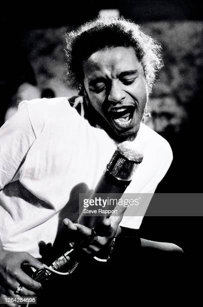 British Reggae musician Maxi Priest films his 'Goodbye To Love' music video, Redan Recorders Studio, London, 7/19/1988.