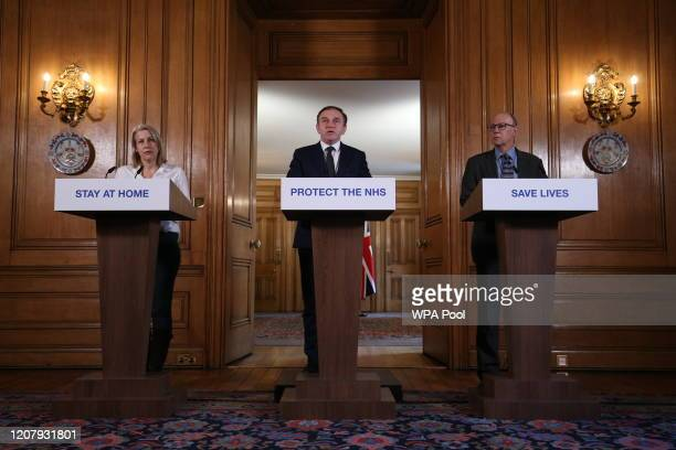 British Retail Consortium Chief Executive Helen Dickinson Environment Secretary George Eustice and National Medical Director at NHS England Stephen...