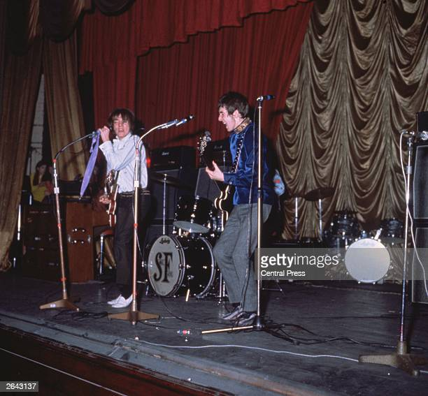 British rhythm and blues pop group the Small Faces, performing on stage at the ABC, Romford, Essex.