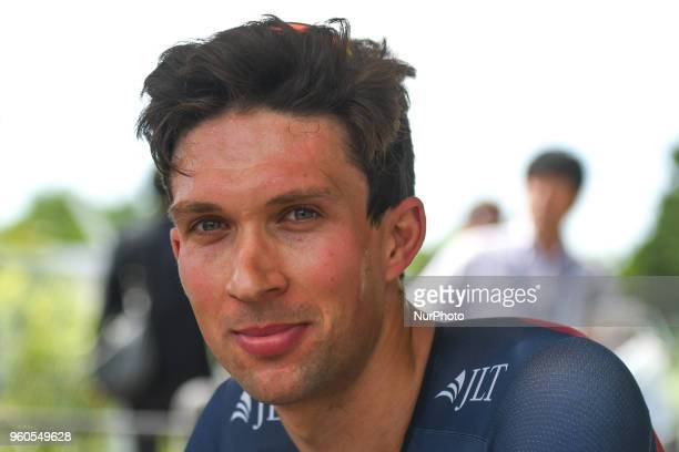 British rider Ian Bibby from JLTCondor team pictured after he wins the opening stage 26km Individual Time Trial in Daisen Park Sakai On Sunday May 20...