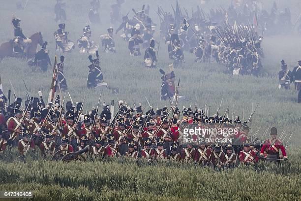 British riflemen Battle of Waterloo 1815 Napoleonic Wars 19th century Historical reenactment